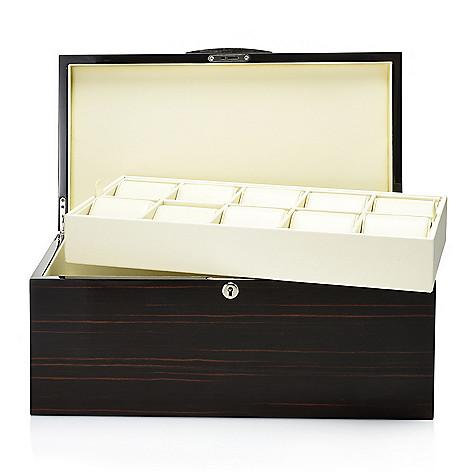 Croton 20-Slot 5-Wood Collector's Watch Case w/ Optional Engraved Plate