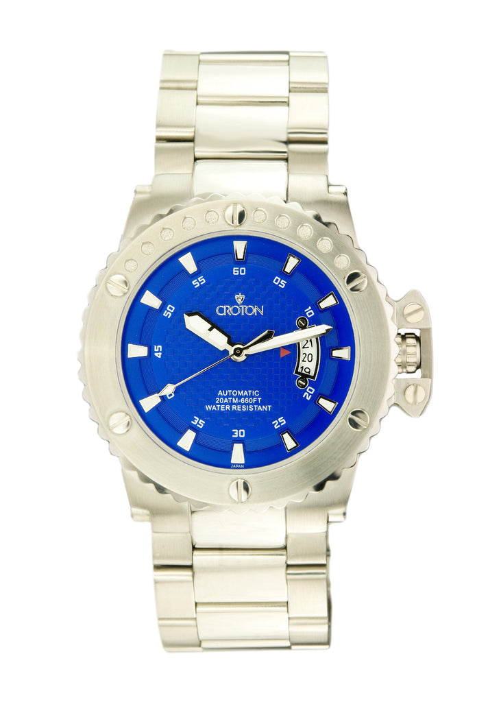 Mens Automatic CR8315 All stainless steel Watch Blue Dial