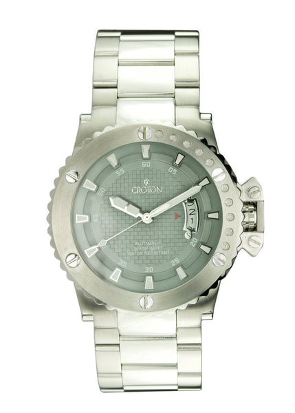 Mens Automatic CR8315 All stainless steel Watch Grey Dial