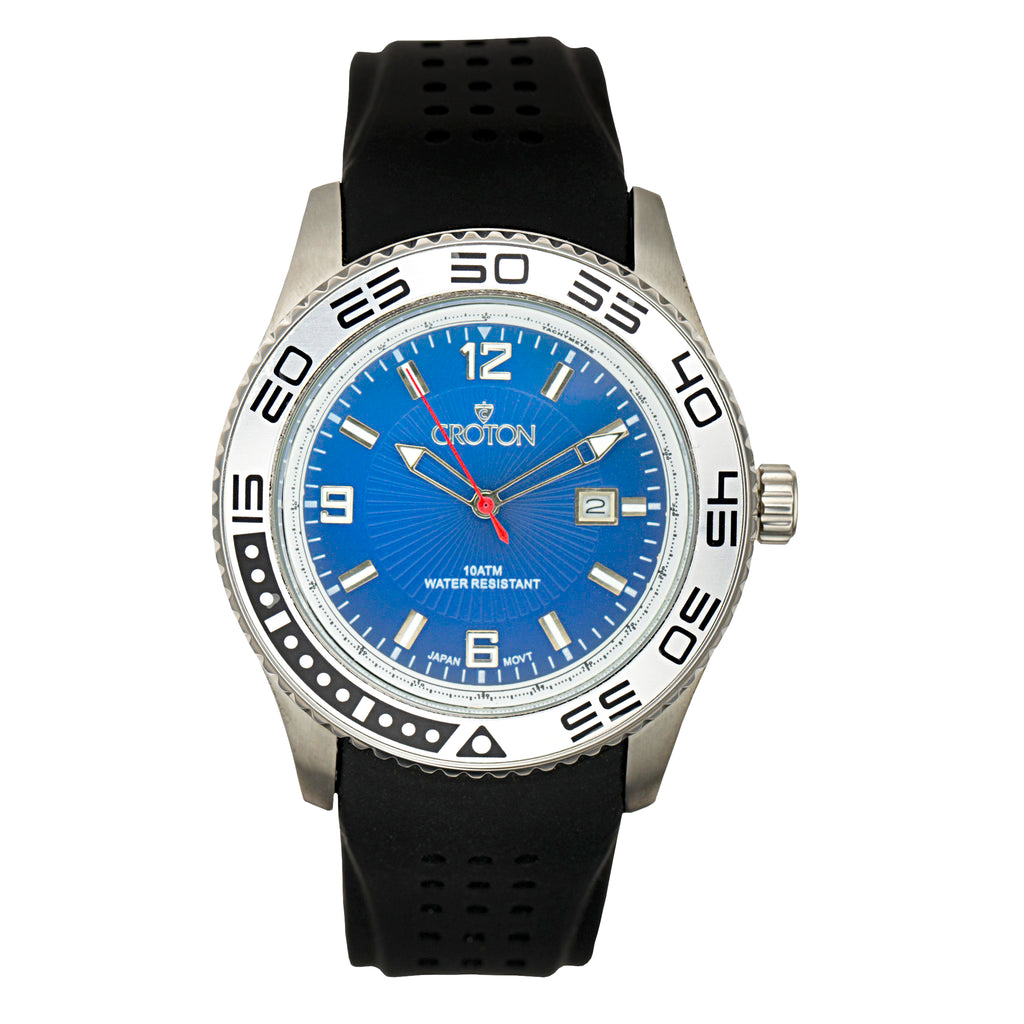 "Croton Men's All Stainless Steel ""Aquamatic"" Watch"