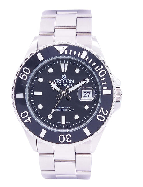 SeaDiver Gents 20 ATM Divers Watch with Black Dial