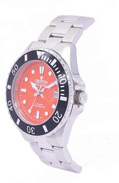 SeaDiver Gents 20 ATM Divers Watch with Orange Dial