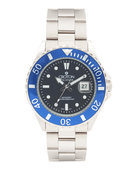 SeaDiver Gents 20 ATM Divers Watch with Black & Blue Dial
