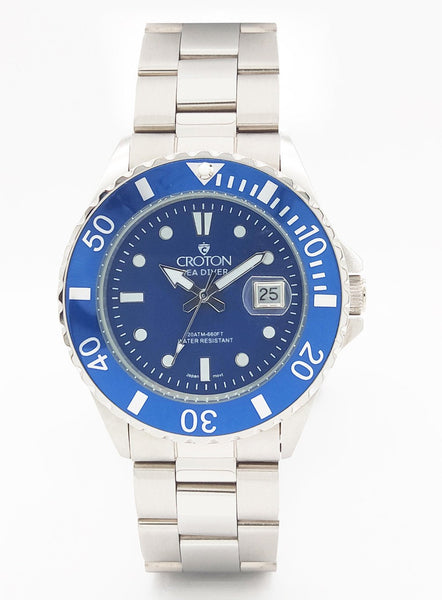SeaDiver Gents 20 ATM Divers Watch with Blue Dial