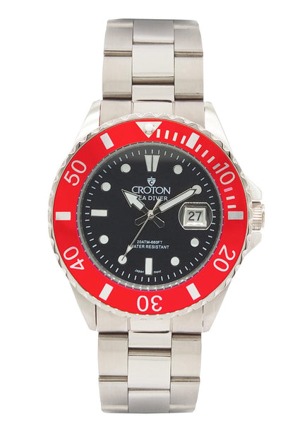 SeaDiver Gents 20 ATM Divers Watch with Red Dial
