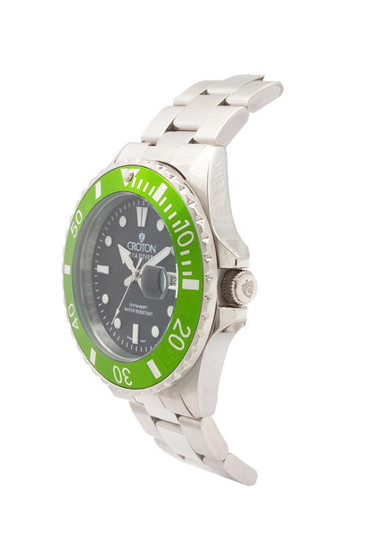 SeaDiver Gents 20 ATM Divers Watch with Green Dial