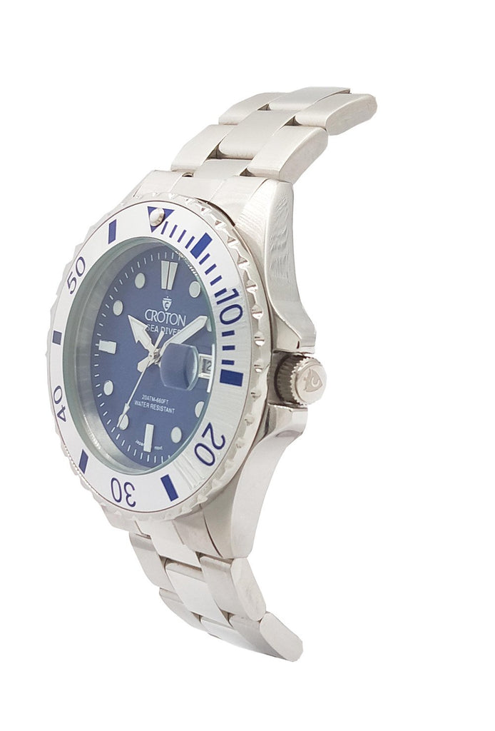 Copy of SeaDiver Gents 20 ATM Divers Watch with Blue & Silver Dial