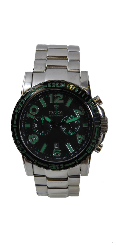 Men's All Stainless Chronograph with Super Luminous Dial and Bezel
