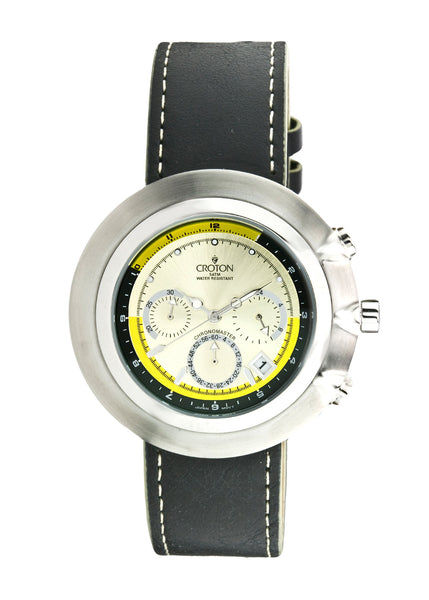 Men's Japan Quartz All Stainless Steel Chronograph Strap Watch
