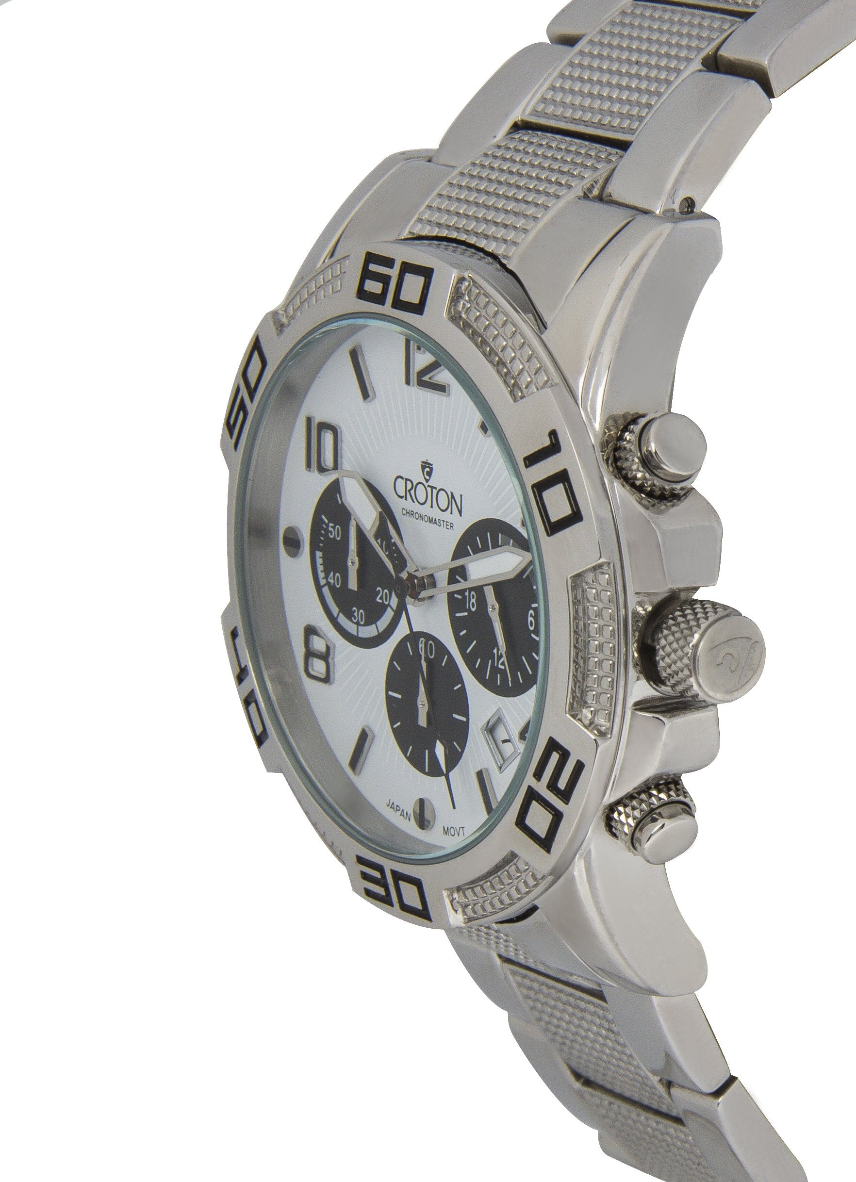 watches any product white dial back index twentyfifth strap