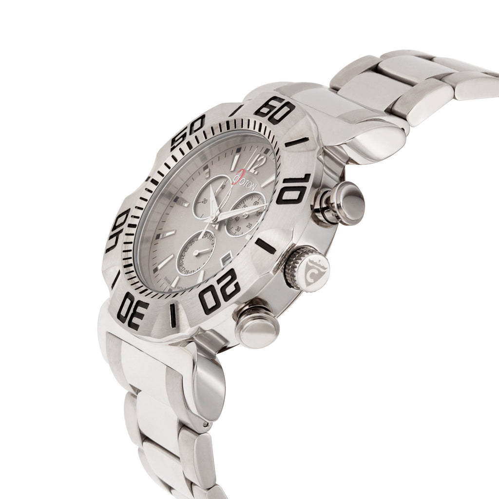 "Croton Men's ""Vortex"" Stainless Swiss Chronograph Bracelet Watch"