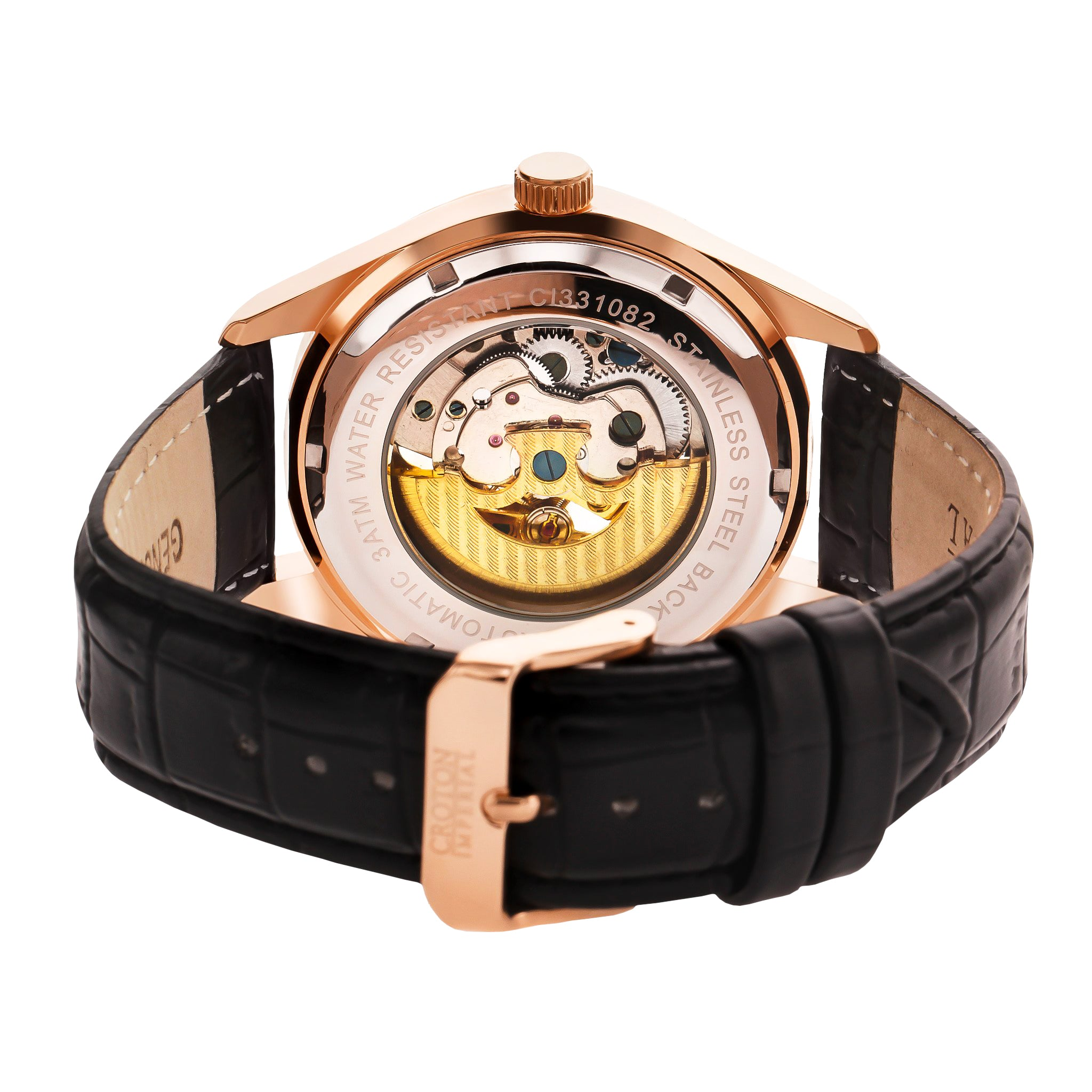 from display mechanical white luminous genuine dragon automatic band fashion chinese men watches item wrist forsining in leather black clock watch hands