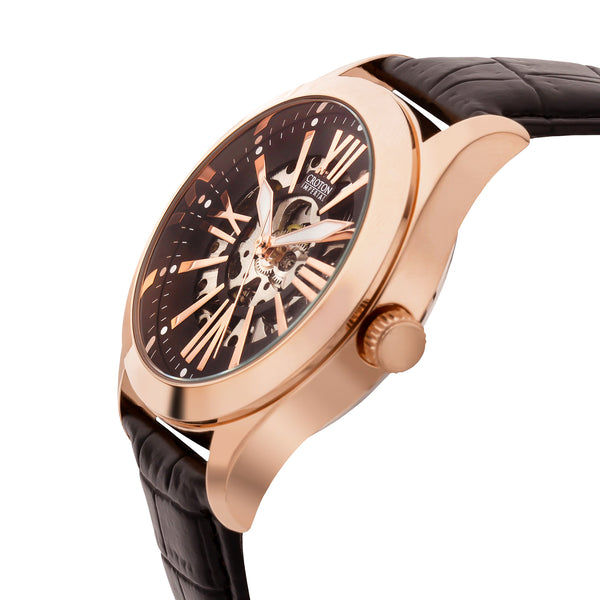 "Croton Men's ""Imperial"" Skeleton Automatic with Luminous Hands & Markers"