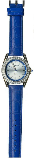 Manhattan by Croton Ladies Quartz Watch with Blue Strap