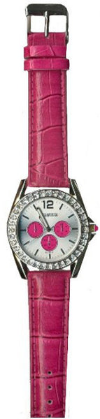Manhattan by Croton Ladies Quartz Watch with Pink Strap