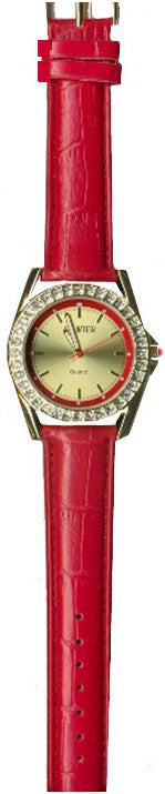 Manhattan by Croton Ladies Quartz Watch with Red Strap