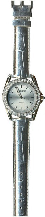 Manhattan by Croton Ladies Quartz Watch with Silver Strap