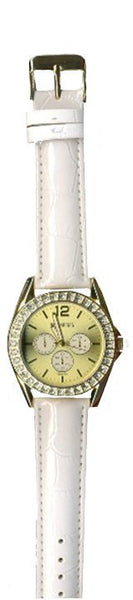 Manhattan by Croton Ladies Quartz Watch with White Strap