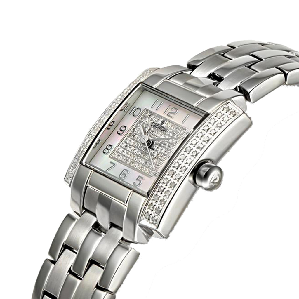 Ladies Swiss Movement MOP Dial and 3/4 Carat Diamond Watch