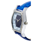 Ladies Quartz Lapis Lazuli & Mother of Pearl Dial Watch with Crystal Bezel
