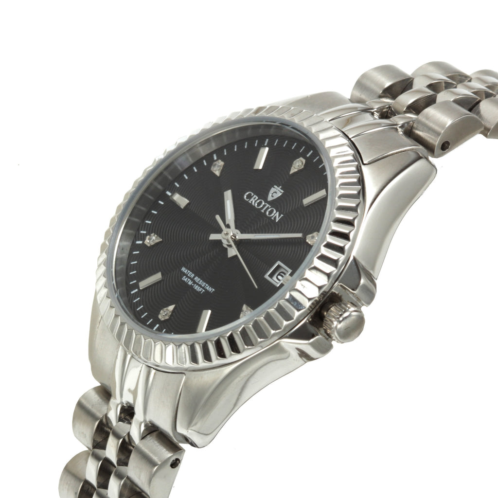 "Croton Ladies ""Heritage"" Stainless Watch with Diamond Markers"