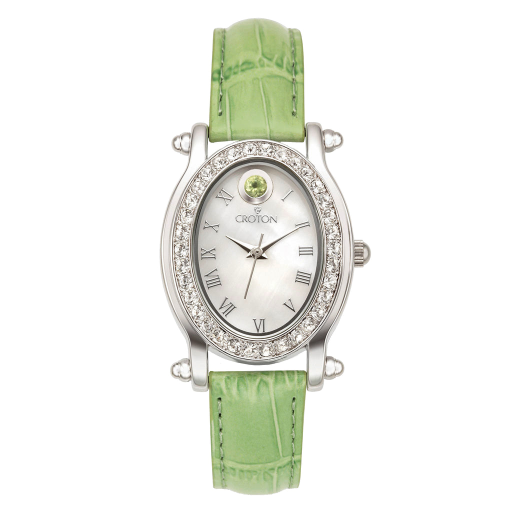 "Croton Ladies ""Ballroom"" Birthstone Watch with Mother of Pearl Dial"