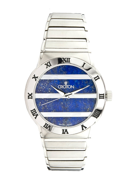 Croton Genuine Lapis Dial Swiss Movement Sapphire Crystal Quartz Watch