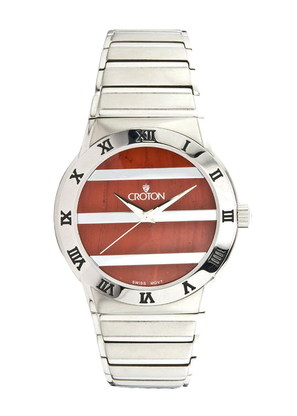 Croton Genuine Jasper Dial Swiss Movement Sapphire Crystal Quartz Watch