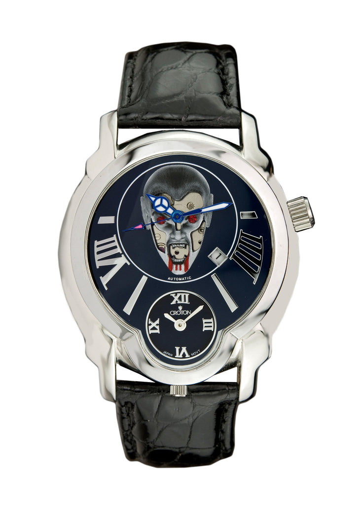 "Crotons Mens ""DAREDEVIL""  Series Watch with Vampire Dial"