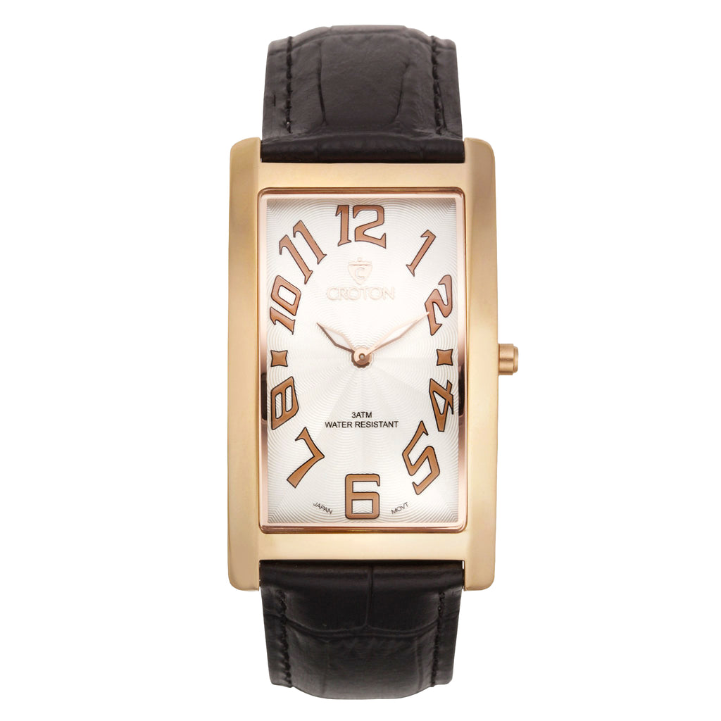 "Croton Men's ""Aristocrat"" Goldtone Stainless Watch"