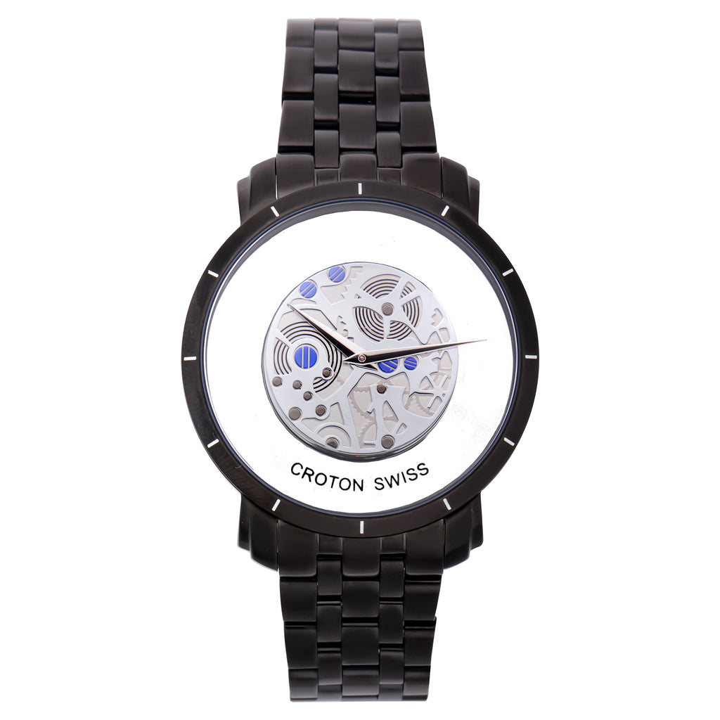 "Croton Men's ""Circuit Breaker"" Swiss Quartz See-Through Dial Watch"