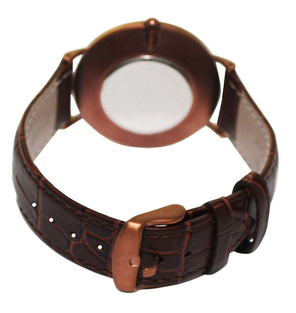 Men's Stainless Steel IP Brown Quartz Watch with Matching Strap