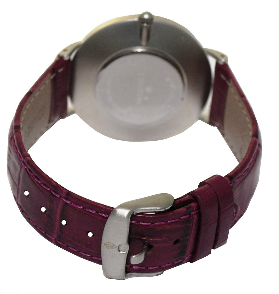 Men's Stainless Steel IP Purple Quartz Watch with Matching Strap