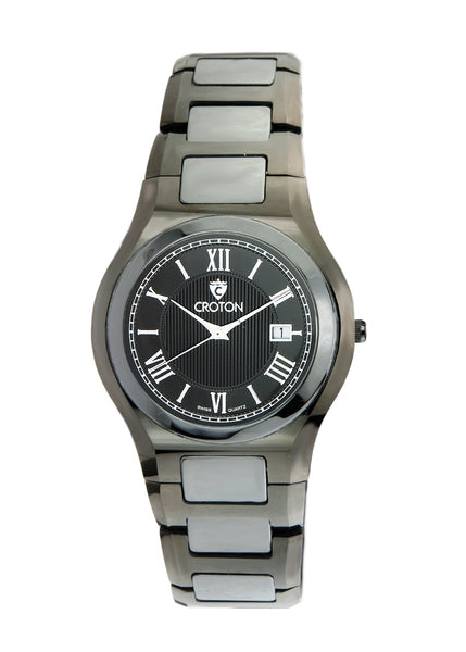 Men's Swiss Quartz Tungsten & Ceramic Dress Watch