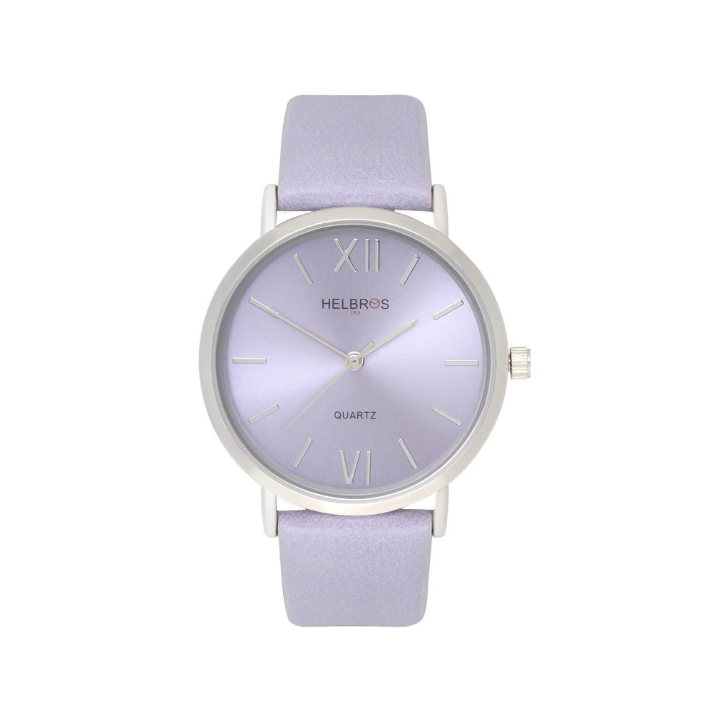 Ladies Quartz Watch with Lavender Metallic Dial and Lavender Strap