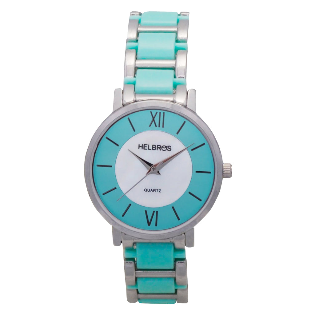 Ladies  Mint Green Quartz Watch with Mother of Pearl Dial