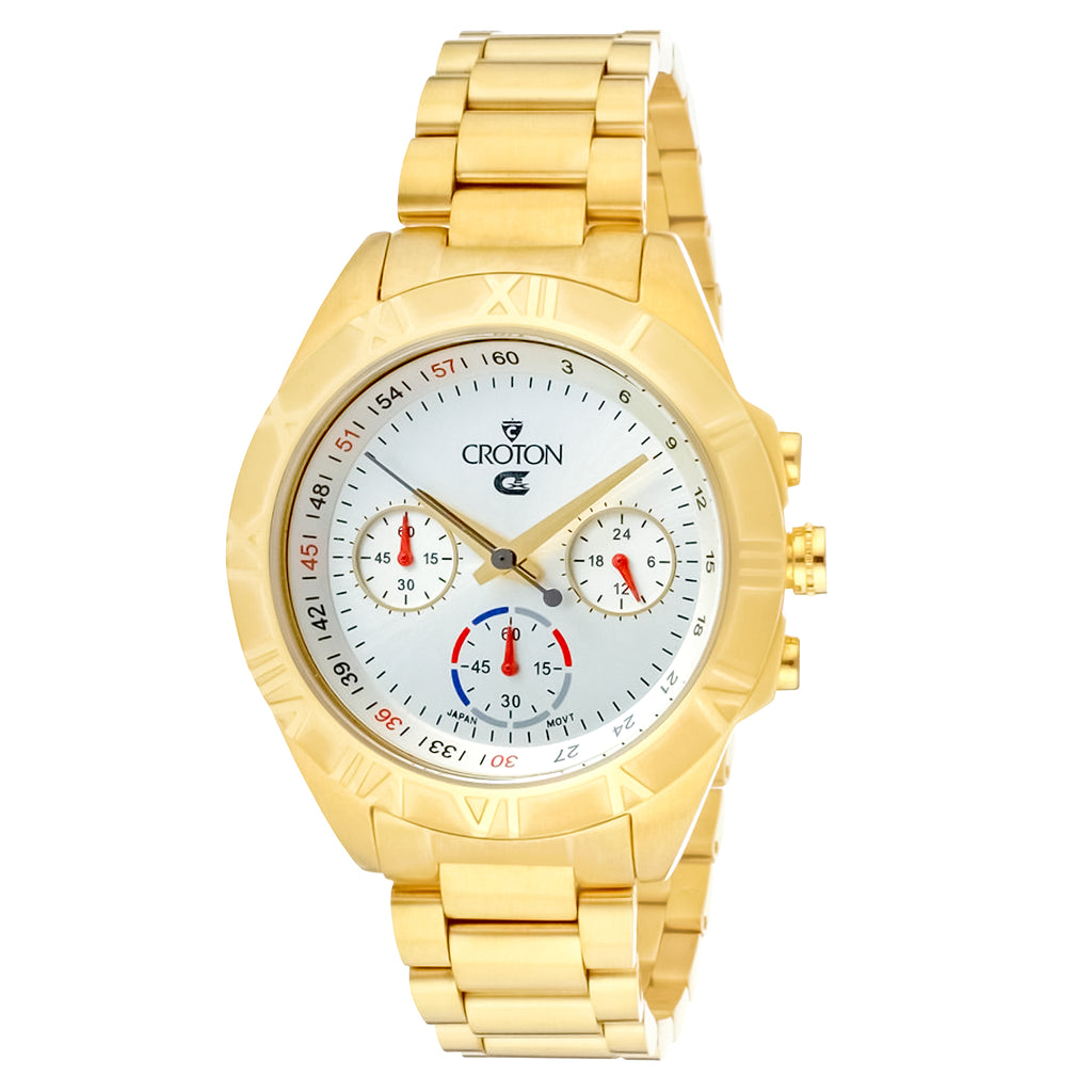Men's Goldtone Chronograph with Tapering Bracelet