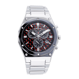 Men's Swiss Parts Tungsten Chronograph Watch with Red Electro Carbon Fibre Dial