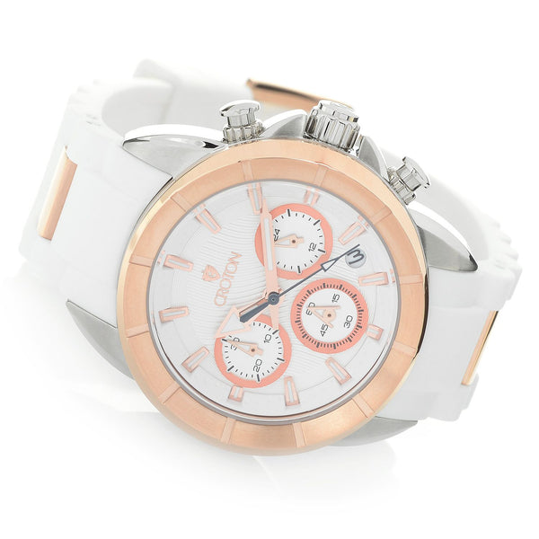 Ladies Rosegold case Chronomaster with Silicon Strap