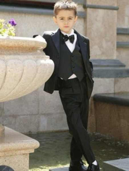"The ""Emmett"" Made-to-order Boys Suit - Black"