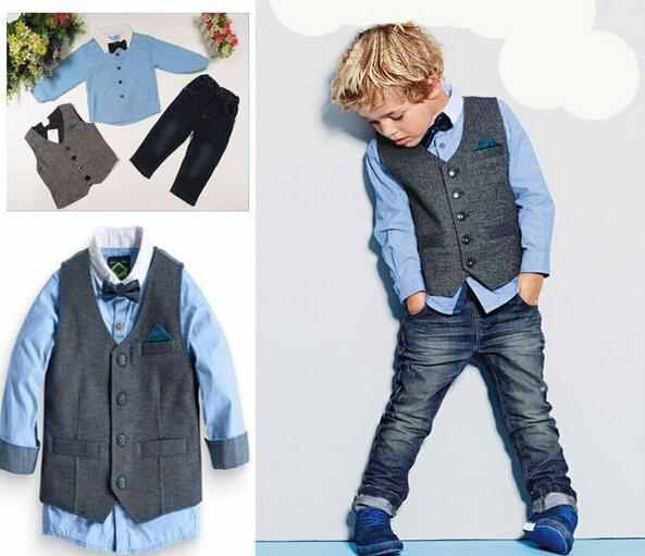 """Evan"" Boys Casual Jeans with Vest"
