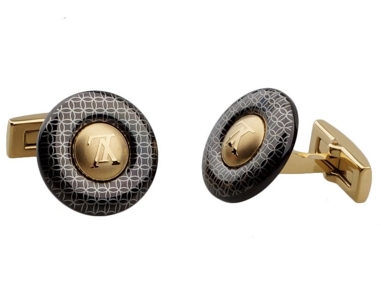 Louis Vuitton inspired gold plated cufflinks
