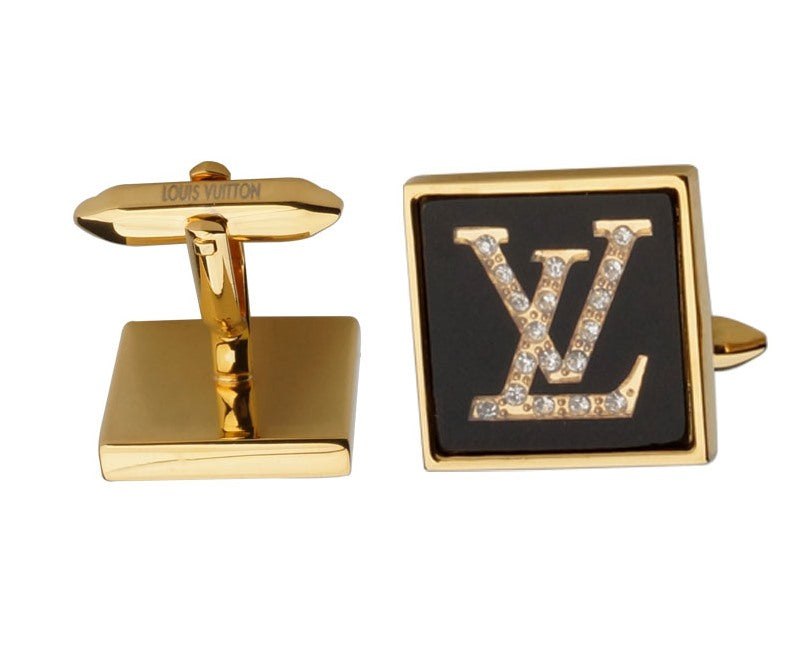 LV INSPIRED GOLD PLATED CUFFLINKS