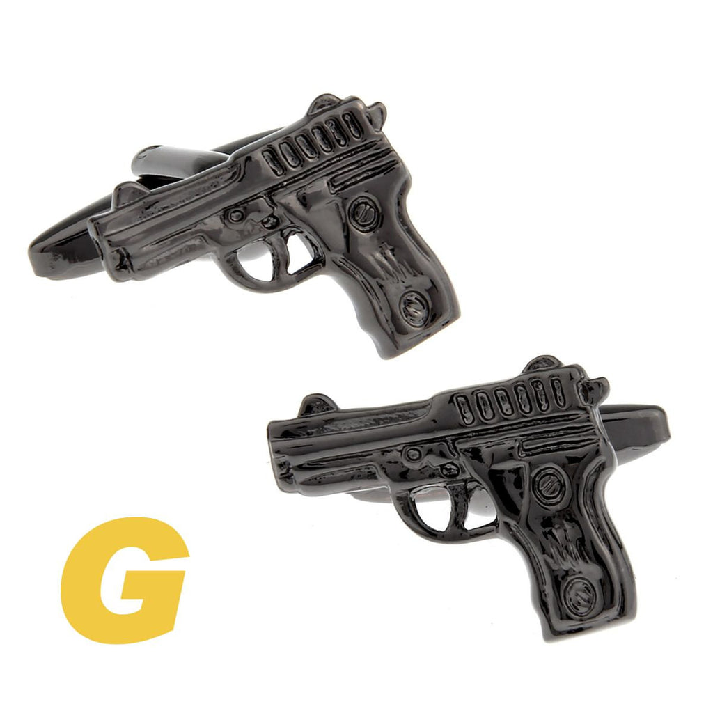 Fancy Gun Novelty Cufflinks