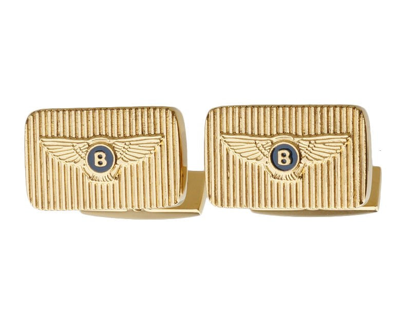 Bentley inspired gold plated cufflinks