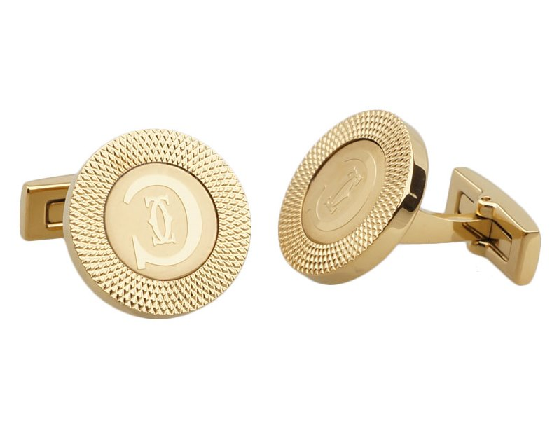 Cartier inspired gold plated cufflinks