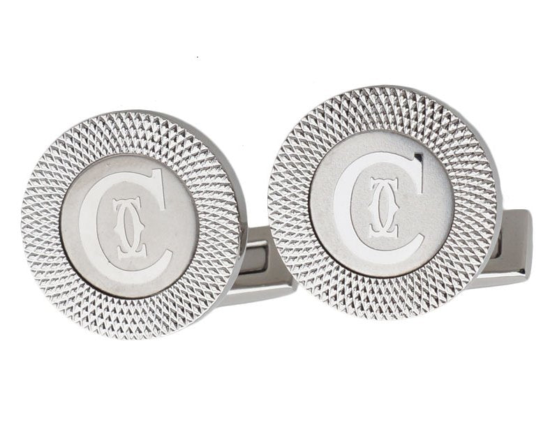 Cartier inspired silver plated cufflinks