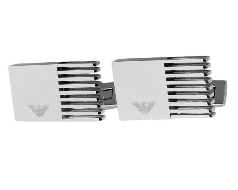 Emporio Armani inspired silver plated cufflinks