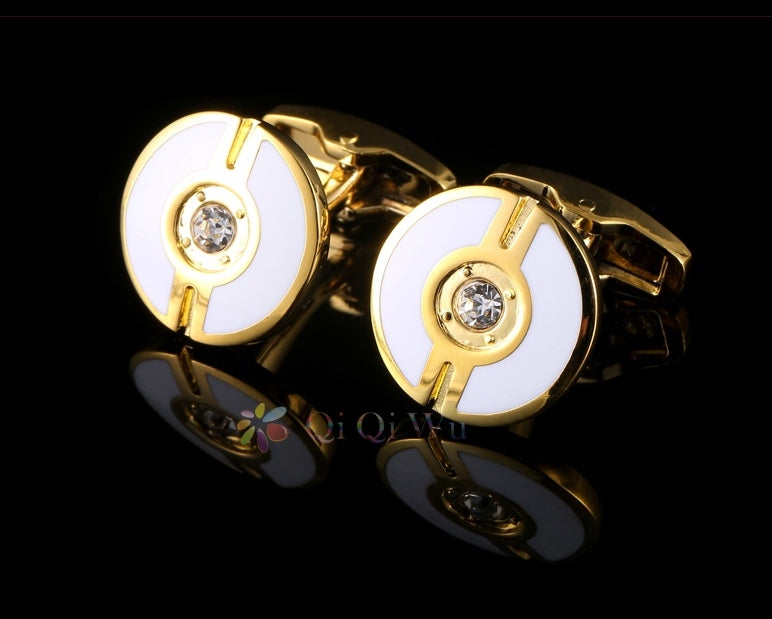 BUTTON GOLD PLATED CUFFLINKS