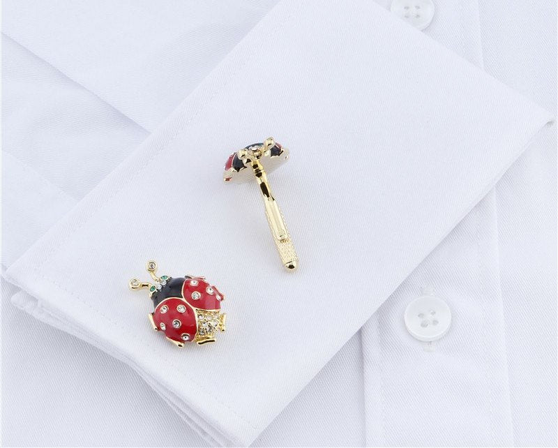 LADY BIRD GOLD CUFFLINKS